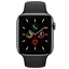 Apple-Watch-Series-5-44mm-Space-Gray-Aluminum-Black-Band-GPS-MWVF2LL-A thumbnail 2