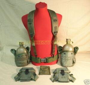 USGI Military Lot MED PISTOL WEB BELT CANTEEN AMMO POUCH ALICE CLIPS & MORE VG