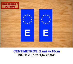 MATRICULA-ESPANA-UE-UNION-EUROPEA-VINILO-PEGATINA-VINYL-STICKER-DECAL-AUFKLEBER