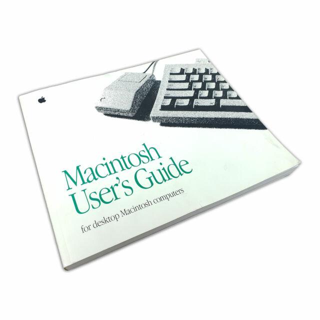 Apple Macintosh User's Guide for desktop Macintosh computers 1992 Vintage Manual
