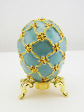 Faberge Swan Egg Figurine (comes with stand)