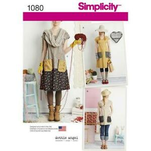 Simplicity-Sewing-Pattern-1080-Misses-039-Dress-or-Tunic-Dottie-Angel-XS-XL