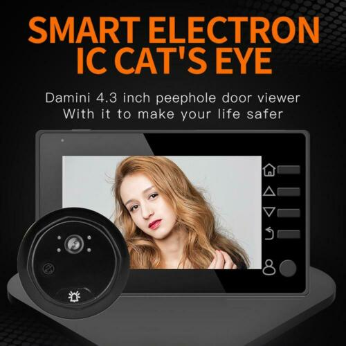 W10 4.3 inch LCD Digital Doorbell Door Peephole Camera Viewer Door Bell tt