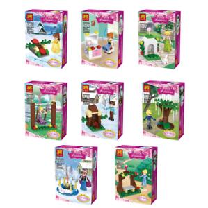 Bausteine-Figur-Toys-Spielzeug-Mini-Modell-Geschenk-Maedchen-Prinzessin-8PCS