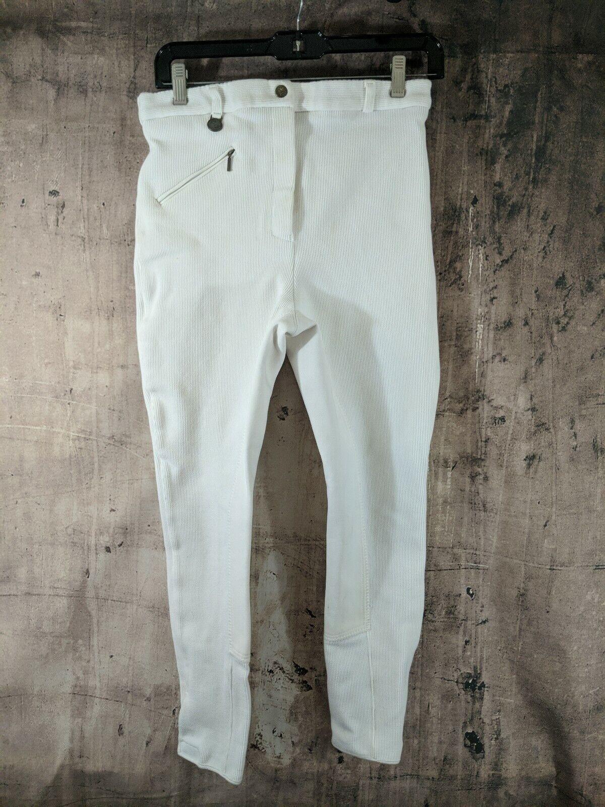 Royal Highness English Riding Pants Size 30R White B25