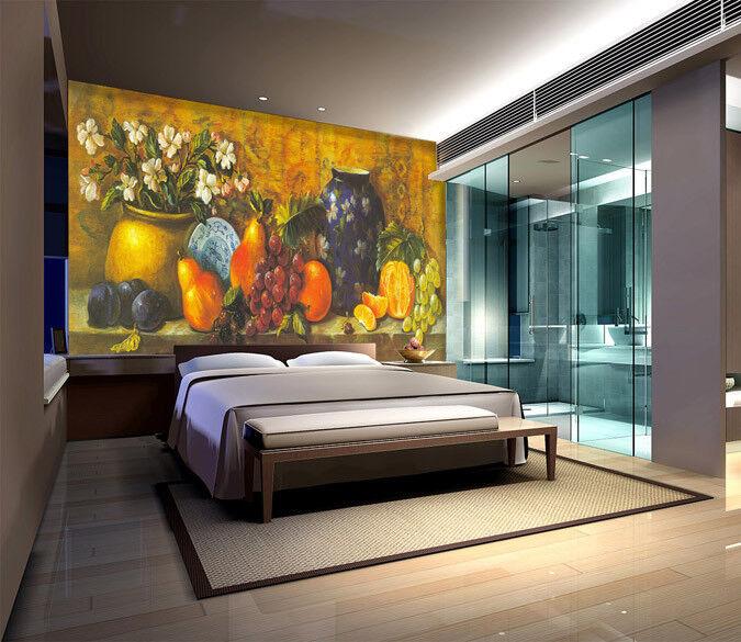 3D Rich Fruits Vases 7 Wall Paper Murals Wall Print Wall Wallpaper Mural AU Kyra