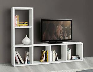Mobile parete attrezzata libreria porta tv salotto soggiorno ebay - Mobile libreria a parete ...