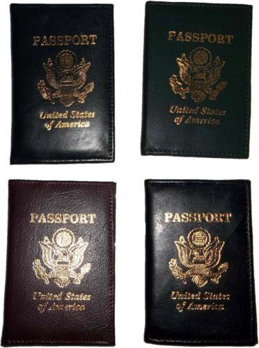 New USA Leather passport case wallet credit ATM card case ID holder Brand New