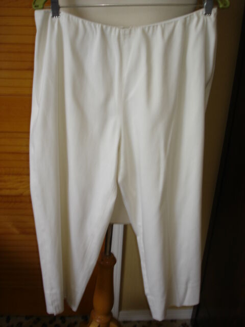 women Karan signature ivory stretch cropped pants 12