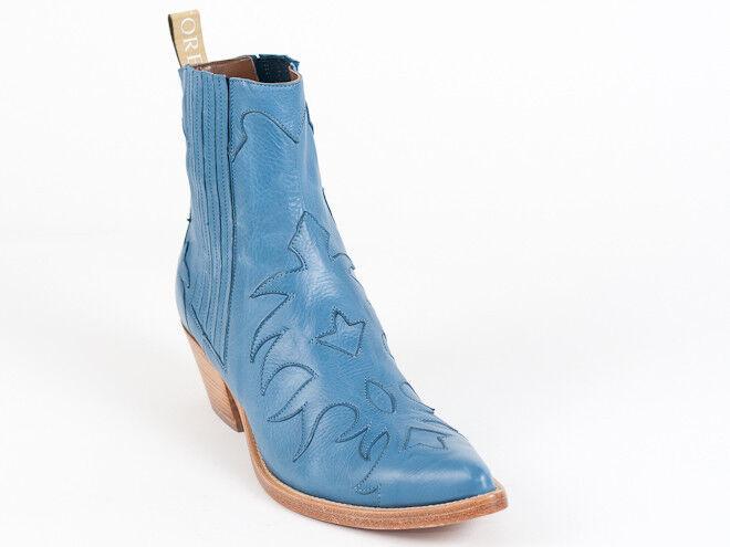 presentando toda la última moda de la calle Nuevos Botines Botines Botines Vaquero Azul Sartore PARIS 35 EE. UU. 5  tienda