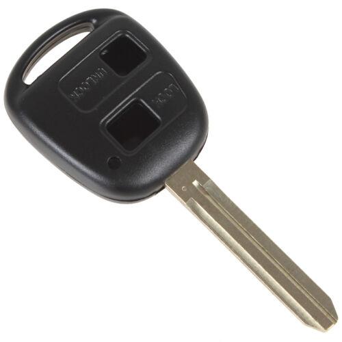 Car 2Button Remote Key Shell Case for Toyota Prado Corolla Yaris RAV4 Echo Blank