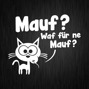 Mauf-Waf-fuer-ne-Mauf-Maus-Katze-Cartoon-Weiss-Auto-Vinyl-Decal-Sticker-Aufkleber