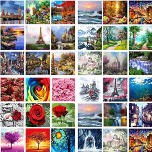 Oil Painting Art Paint Canvas by Number Kits Paint Home Wall Hanging Decors DIY