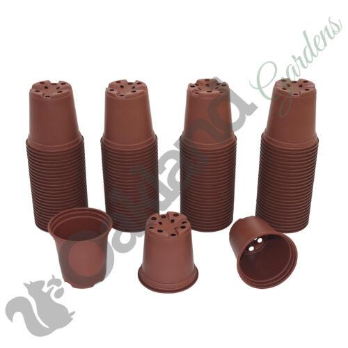 """500 X 9cm Plant Pots Terracotta Plastic Tall Deep Full Size Flower Pot 3.5/"""""""