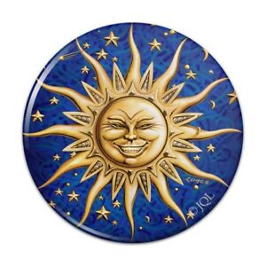 Celestial Suns Moon Shooting Stars Kitchen Refrigerator