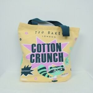 NEW TED BAKER COTTON CRUNCH SUGAR CUFFS STRONG FABRIC CANVAS BAG KAWAII