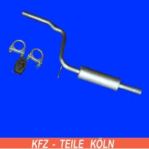 1.9D Mittelschalldämpfer Auspuff 1.6 Seat INKA VW CADDY II 1.4
