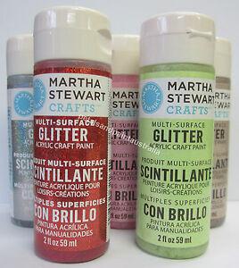 New-Martha-Stewart-Crafts-Acrylic-Glitter-Paint-Decorative-Art-Select-Colour