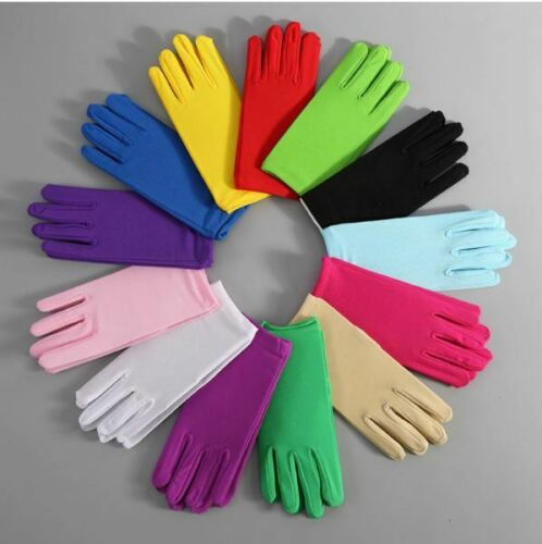 Women Short Wrist Gloves Elastic Spandex Driving Outdoor Activity Party Wear New