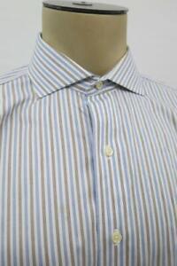 Brooks-Brothers-Madison-Supima-Blue-Striped-Non-Iron-Dress-Shirt-16-34