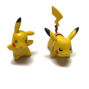 POKEMON JAKKS Pacific Lot Of 2  Pikachu 3 inch 2007 RARE Toy
