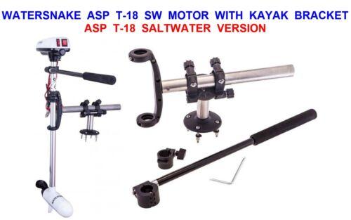 WATERSNAKE ASP T18 SW ELECTRIC OUTBOARD MOTOR /& KAYAK BRACKET CANOE FISHING