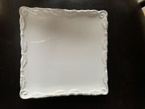 8-Salad-Plate-Bianca-Wave-by-AMERICAN-ATELIER-SQUARE-Excellent-Multiple-Avlb