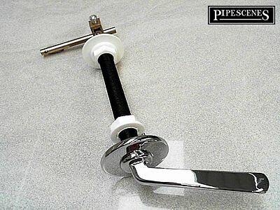 Long Reach Toilet Handle Extended Cistern Lever 350mm HQ Chrome Finish