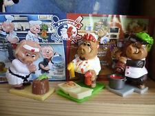 Ü-Ei Schweine Duell in der Küche 3 Figuren Ferrero Überraschungsei