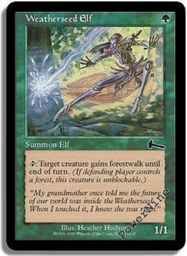 Green Urza/'s Legacy Mtg Magic Common 1x x1 1 FOIL Weatherseed Elf