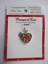 b I miss you U are always with me Messages of Love PRAYER BOX CHARM LOCKET Ganz