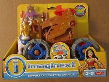 IMAGINEXT HYPPOLYTA & BATTLE CHARIOT ~ DC Universe ~ Fisher-Price-Wonder Woman