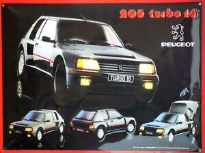 PLAQUE-METAL-vintage-PEUGEOT-205-TURBO-16-40-x-30-cm
