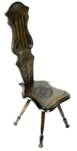 Antique Carved Oak Spinning Chair Cheapest Price From Our Site Free Shipping pl4756