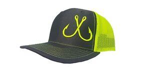 Image is loading Richardson-Fishing-Hooks-Snapback-Hat-Trucker-Cap-Custom- fbc72c65644