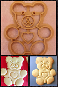 Teddy Bear 3D Imprimé Cookie Cutter Stamp Baking Biscuit Forme Outil