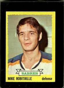 1973-74-TOPPS-121-MIKE-ROBITAILLE-VG-SABRES-WAX-BK-X2226