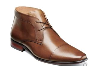 Florsheim Postino Chukka Boot Cap Toe Lace Up Leather Cognac 15177-221