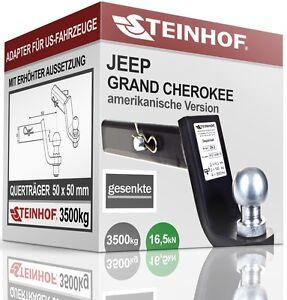 JEEP-GRAND-CHEROKEE-LAREDO-AHK-ADAPTER-fuer-US-FAHRZEUGE-50x50mm-GESENKT-NEU