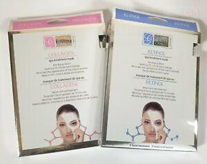 Global-Beauty-Care-2-COLLAGEN-amp-2-RETINOL-Spa-Treatment-Mask-Anti-Aging-Serum