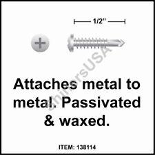 Self Drilling Zinc Screw 6-20x1 TEK 2 Phillips Pan Head 137808 10000