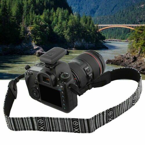 Correa bandolera de cuerro de Cámara estilo retro para SLR DSLR prismáticos Canon Nikon Sony