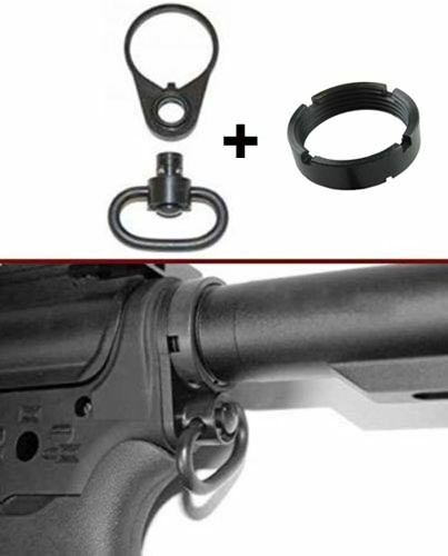 .223//5.56 QD End Plate Tactical Sling Mount /&QD Sling Swivel Adapter/& Castle nut