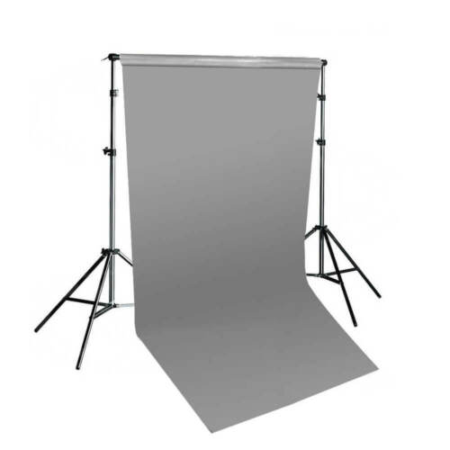 Grey Paper Background with Telescopic Background Stand Photography 1.35mx10m