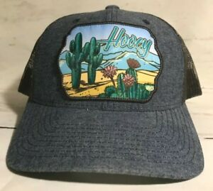 save off abfaa 5624d Image is loading Hooey-Sonora-Patch-Denim-and-Brown-Mesh-Cap-