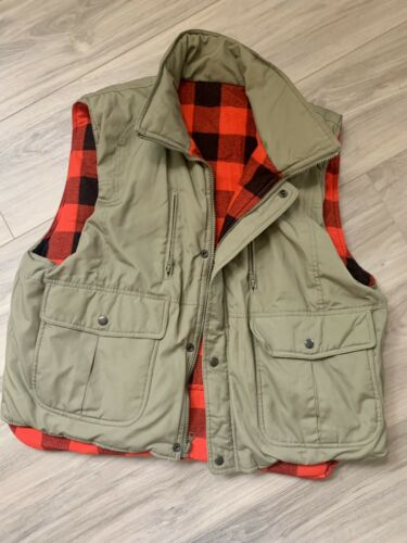 Hardy Amies London Buffalo Plaid Reversible Vest