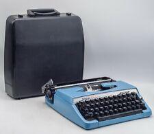 Working Brother Charger 11 Blue Metal Mechanical Typewriter Nagoya Japan