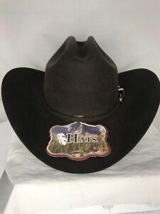 7ef577c0e Details about NEW ! WESTERN COWBOY HAT TEXANA LA SIERRA WOOL 100X 7 1/4  COLOR BROWN