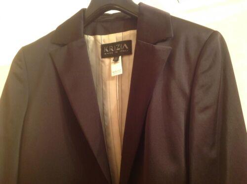 Italie Krizia Noir Taille Womens En Blazer Métallisé Fabriqué Doublure Couleur 46 Soie qA7HAx