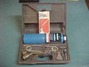 JT-681-BERNZ-O-MATIC-JET-Torch-Kit-w-Case-amp-Manual-Soldering-Blowtorch